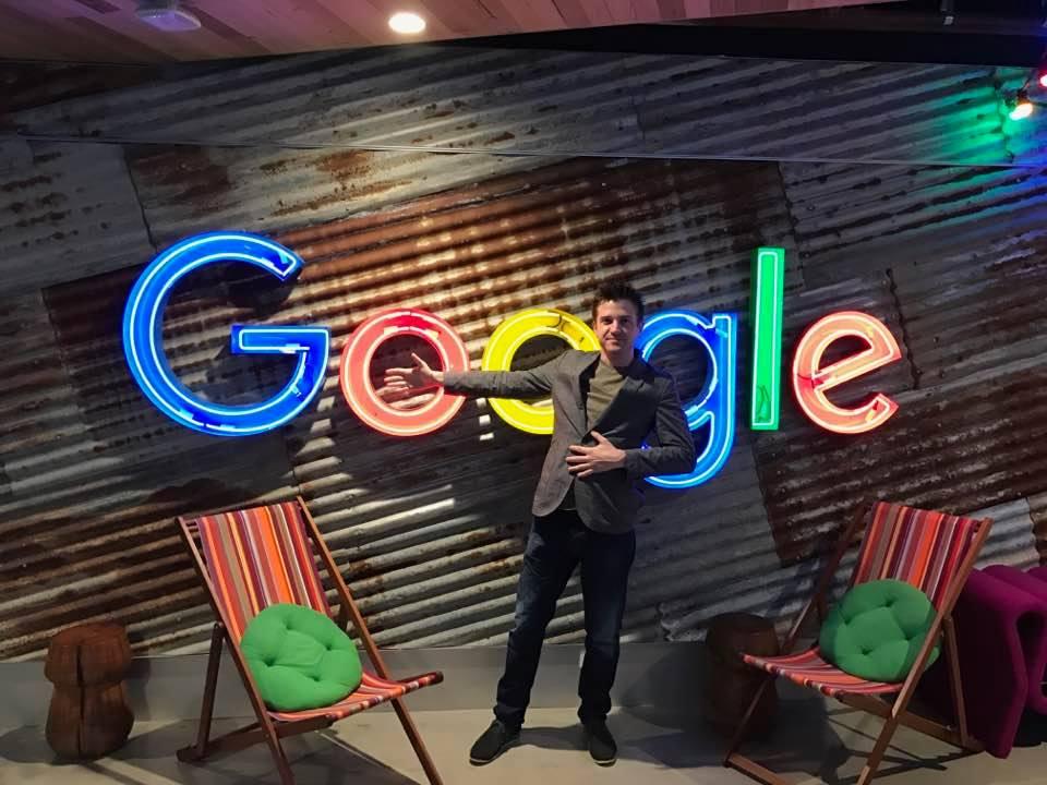 Scott Shorter Google Premier Partner 2017 standing inside Google HQ Sydney